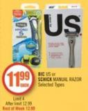 Bic Us or Schick Manual Razor