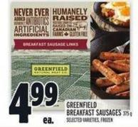 Greenfield Breakfast Sausages 375 g