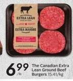 The Canadian Extra Lean Ground Beef Burgers