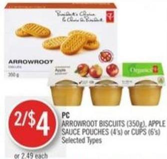 Arrowroot Biscuits (350g) - Apple Sauce Pouches (4's) or Cups (6's)