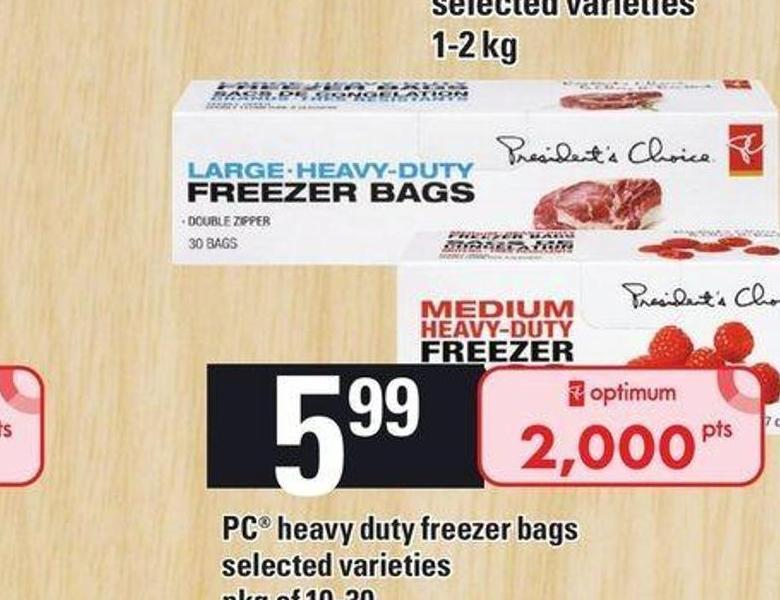 PC Heavy Duty Freezer Bags - Pkg of 10-30