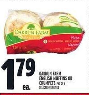 Oakrun Farm English Muffins or Crumpets