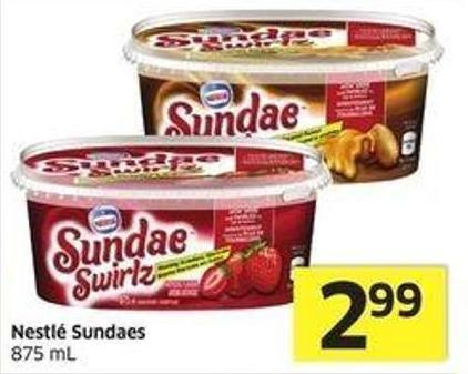 Nestlé Sundaes 875 mL