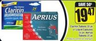 Claritin Tablets 30 Pk or Liquid Capsules 24 Pk Aerius Tablets 20 Pk