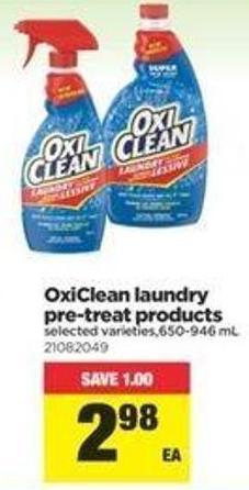 Oxiclean Laundry Pre-treat Products - 650-946 Ml