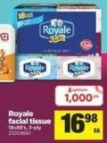 Royale Facial Tissue 18x88's - 3-ply