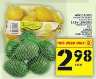 Avocados Or Baby Lemons Or Limes