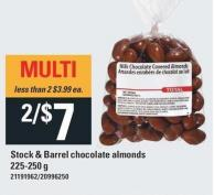Stock & Barrel Chocolate Almonds - 225/250 g