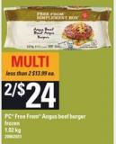 PC Free From Angus Beef Burger - 1.02 Kg