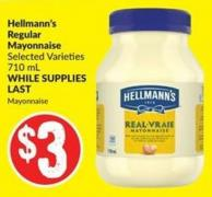 Hellmann's Regular Mayonnaise Selected Varieties 710 mL Mayonnaise
