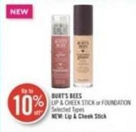 Burt's Bees Lip & Cheek Stick or Foundation