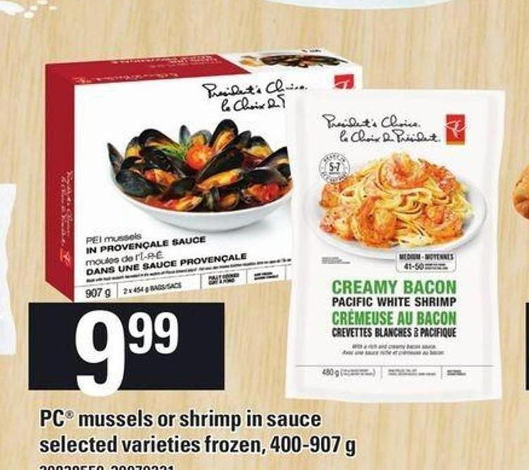 PC Mussels Or Shrimp In Sauce 400-907 G