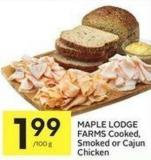Maple Lodge Farms Cooked - Smoked or Cajun Chicken