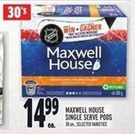 Maxwell House Single Serve PODS