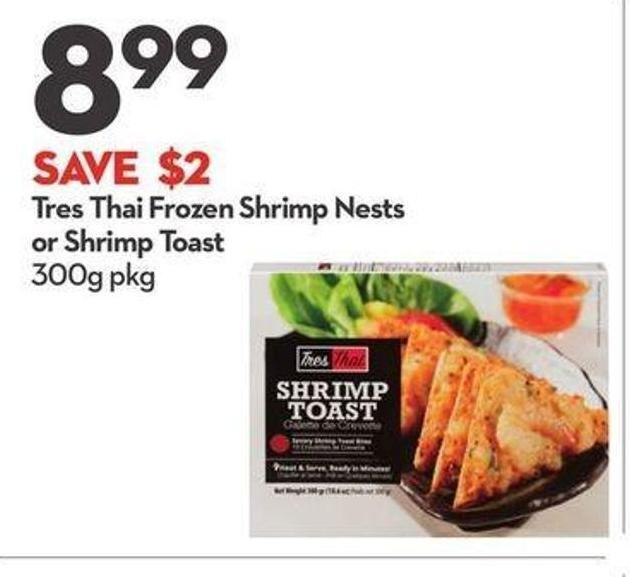 Tres Thai Frozen Shrimp Nests or Shrimp Toast