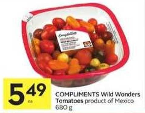 Compliments Wild Wonders Tomatoes Product of Mexico 680 g