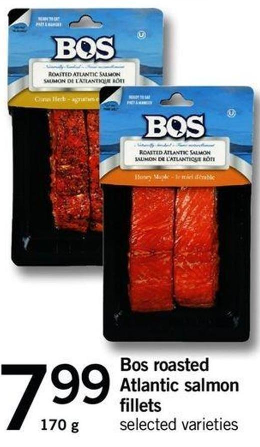 Bos Roasted Atlantic Salmon Fillets - 170 G