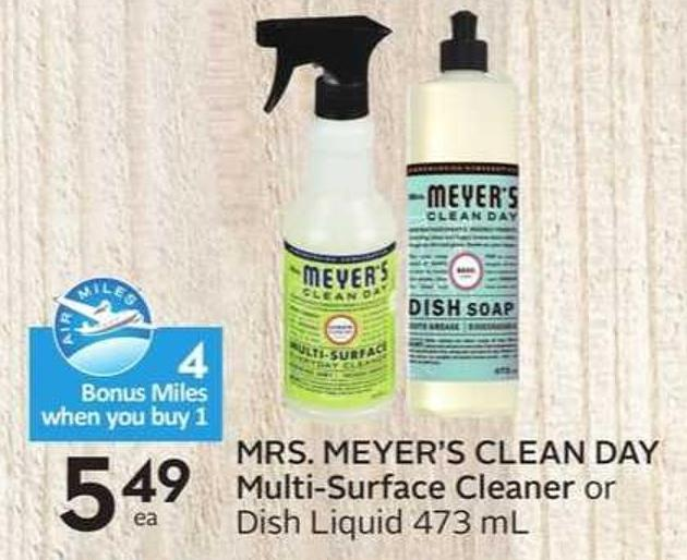Mrs. Meyer's Clean Day Multi-surface Cleaner -4 Air Miles Bonus Miles
