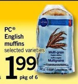 PC English Muffins - Pkg of 6