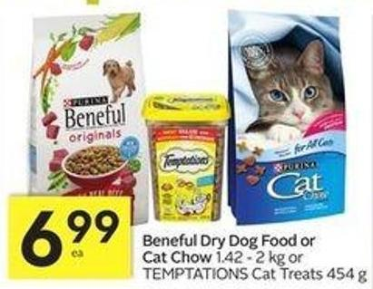 Beneful Dry Dog Food or Cat Chow