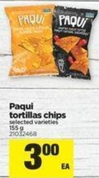 Paqui Tortillas Chips - 155 G