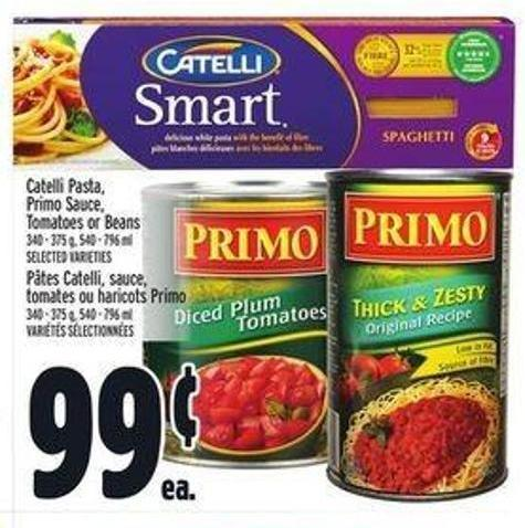Catelli Pasta - Primo Sauce - Tomatoes or Beans