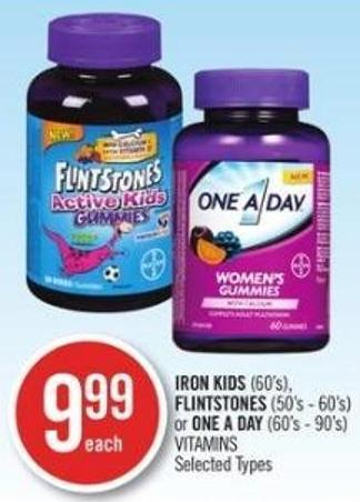 Iron Kids (60's) - Flintstones (50's - 60's) or One A Day (60's - 90's) Vitamins
