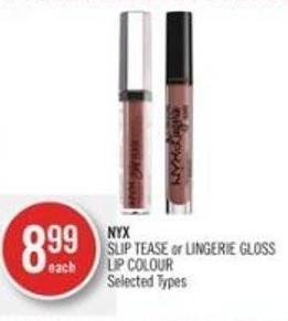 Nyx  Nyx Slip Tease or Lingerie Gloss Lip Colour