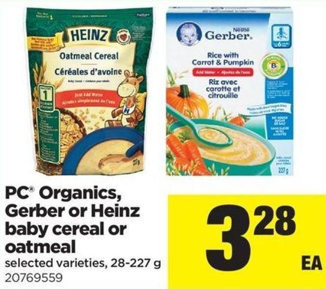 PC Organics - Gerber Or Heinz Baby Cereal Or Oatmeal - 28-227 G