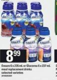 Ensure - 6 X 235 mL Or Glucerna - 6 X 237 mL Meal Replacement Drinks