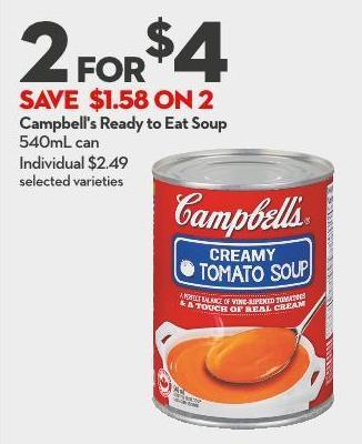 Campbell's Ready To Eat Soup 540ml Can