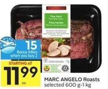 Marc Angelo Roasts Selected 600 G-1 Kg - 15 Air Miles Bonus Miles