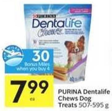 Purina Dentalife Chews Dog Treats-30 Air Miles Bonus Miles