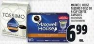 Maxwell House Tassimo T-disc Or K-cup Coffee Capsules