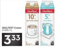 Sealtest Cream 5-10% 1 L