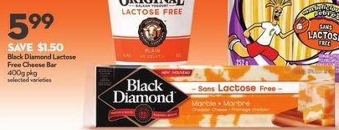 Black Diamond Lactose Free Cheese Bar