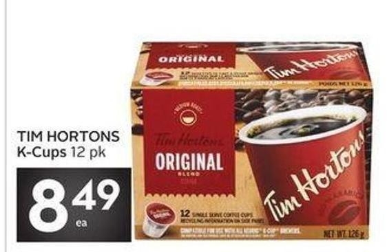 Drinks Tim Hortons K-cups 12 Pk
