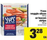 Yves Veggie Slices - 155 G Or Bacon Strips - 156 G