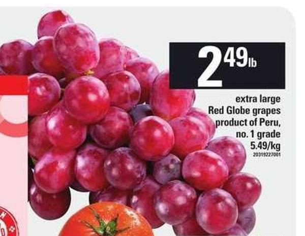 Extra Large Red Globe Grapes