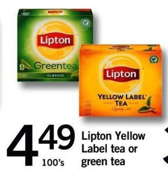 Lipton Yellow Label Tea Or Green Tea