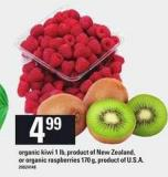 Organic Kiwi 1 Lb - Or Organic Raspberries 170 g