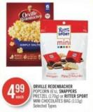 Orville Redenbacher Popcorn (6's) - Snappers Pretzel (170g) or Ritter Sport Mini Chocolates Bag (113g)