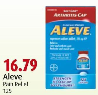 Aleve Pain Relief 125