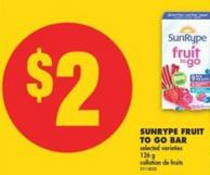 Sunrype Fruit To Go Bar - 126 g