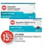 Life Brand Ibuprofen Pain Relief Products 32's- 250's