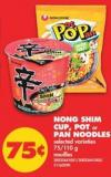 Nong Shim Cup - Pot or Pan Noodles - 75/110 g