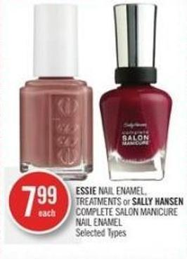 Essie Nail Enamel - Treatments or Sally Hansen Complete Salon Manicure Nail Enamel