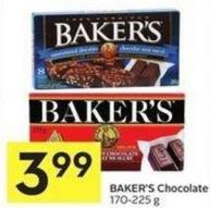 Baker's Chocolate - 170-225 G