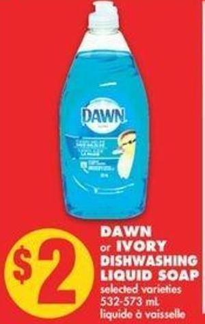 Dawn Or Ivory Dishwashing Liquid Soap - 532-573 Ml