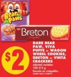 Dare Bear Paw - Viva Puffs or Wagon Wheel Cookies - Breton or Vinta Crackers - 100-315 g